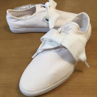 アディダス(adidas)の新品25アディダスリレースローBS白(スニーカー)