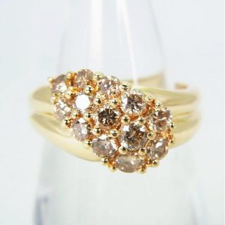 K18 ダイヤモンド リング 11.5号[g166-9](リング(指輪))