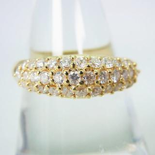 K18 ダイヤモンド パヴェ リング 18号[g166-12](リング(指輪))