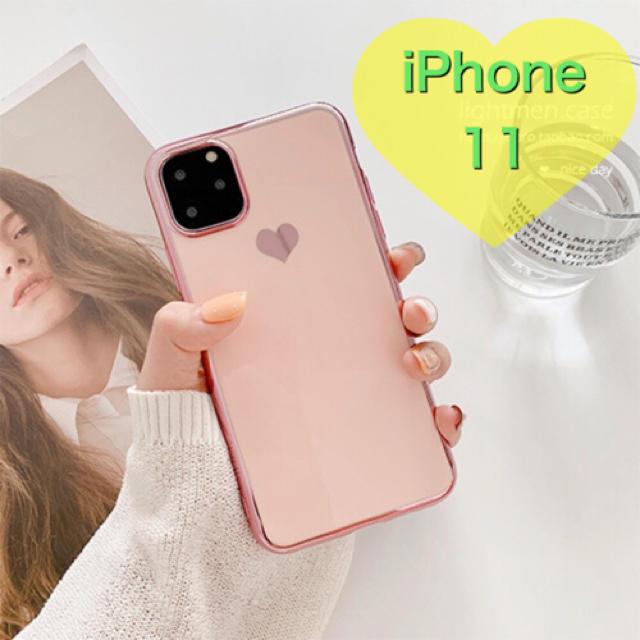 iPhone 11 Pro ケース マイケルコース | 大人気♡iPhone11 ハート ピンク メッキ風 かわいい iPhoneケースの通販 by YUKI73's shop|ラクマ