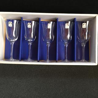 トウヨウササキガラス(東洋佐々木ガラス)のSASAKI  CRYSTAL ワイングラス五脚セット(グラス/カップ)