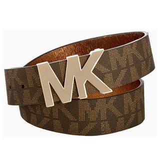 Michael Kors - プレゼント 新品 ブランド マイケルコース MK ロゴ ベルト ブラウン レザー