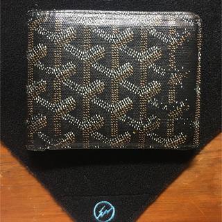 ゴヤール(GOYARD)のゴヤール GOYARD 二つ折財布 小銭入無 札入 使用感強目 男性商品 中古(折り財布)