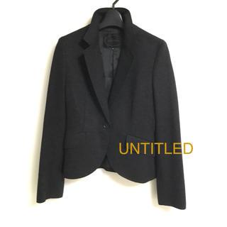 アンタイトル(UNTITLED)の美品 UNTITLED   アンゴラ混 ジャケット M(テーラードジャケット)