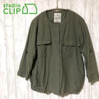 スタディオクリップ(STUDIO CLIP)の✨STUDIO CLIP スタジオ クリップ ジャケット ブルゾン 麻混(ノーカラージャケット)