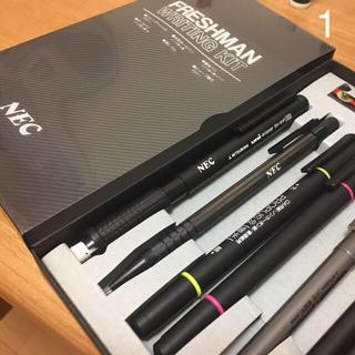 エヌイーシー(NEC)の専用 年代物の筆記用具セット(おまけつき)(資格/検定)