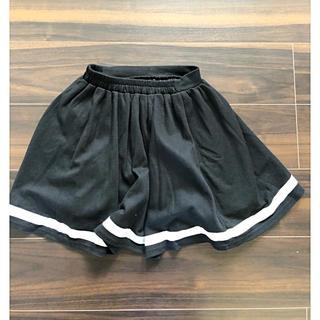 ピンクラテ(PINK-latte)のピンクラテ  スカート 中スパッツ付き 黒 XS 150(ひざ丈スカート)