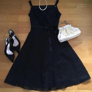 エニィスィス(anySiS)のanysis 結婚式 ドット柄 ワンピース ドレス フォーマル(ミディアムドレス)