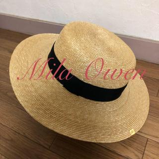 ミラオーウェン(Mila Owen)のカンカン帽 麦わら帽子(麦わら帽子/ストローハット)