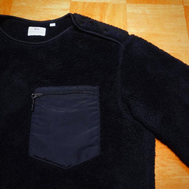 UNIQLO(ユニクロ)の美品 完売品 ユニクロ エンジニアガーメンツ フリースプルオーバー ブラック S メンズのトップス(その他)の商品写真