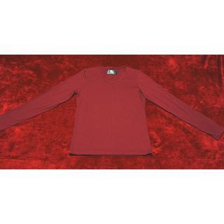 ダブルジェーケー(wjk)のWJK カットソー 長袖 シャツ レッド Sサイズ(Tシャツ/カットソー(七分/長袖))