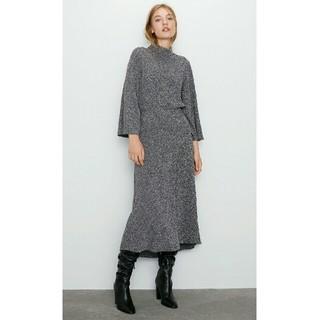 ザラ(ZARA)のZARA グレー ロングスカート XS(ロングスカート)