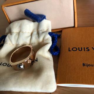 ルイヴィトン(LOUIS VUITTON)のLOUIS VUITTON   ナノグラム リング   ピンクゴールド(リング(指輪))