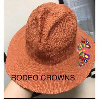 ロデオクラウンズ(RODEO CROWNS)のタグ付き未使用品☆ RODEO CROWNS 刺繍ハット(ハット)