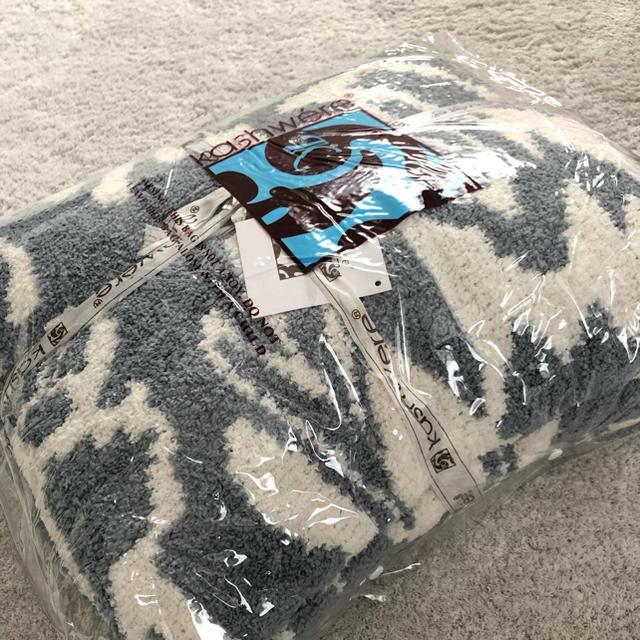 kashwere(カシウエア)のkashwere(カシウエア) ダマスク ブランケット シルバーブルー インテリア/住まい/日用品の寝具(毛布)の商品写真