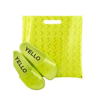 イエローブーツ(Yellow boots)のYELLO 蛍光イエロー サンダルトートバッグセット(サンダル)