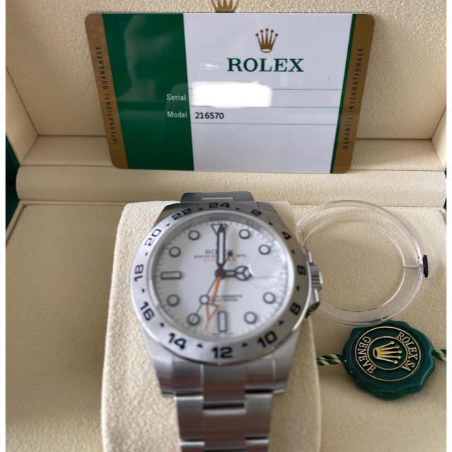 ROLEX - ROLEX 216570 エクスプローラ2 ホワイト 3月ギャラ未使用付属品有の通販