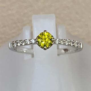 プラチナ トリートアップルグリーンダイヤモンド リング PT900(リング(指輪))