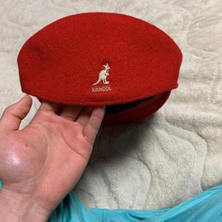 カンゴール(KANGOL)のKANGOLハンチング赤(ハンチング/ベレー帽)