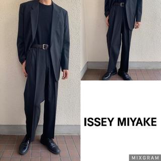 イッセイミヤケ(ISSEY MIYAKE)の極上 ISSEY MIYAKE  セットアップ  グレーブラック(セットアップ)