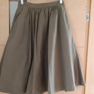 ルクールブラン(le.coeur blanc)のルクールブラン カーキフレアスカート(ひざ丈スカート)