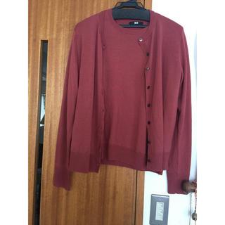 ユニクロ(UNIQLO)のユニクロ ツインニット カーディガン&半袖セーター 美品(アンサンブル)