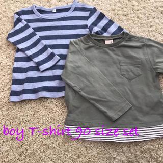 プティマイン(petit main)のpetit main & 無印 シンプル男の子Tシャツ 90サイズ 2枚セット(Tシャツ/カットソー)
