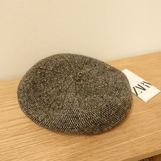 ザラ(ZARA)の未使用 ザラ ツイード ベレー帽(ハンチング/ベレー帽)