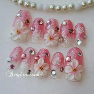 キャンディホログラムピンク■結晶お花