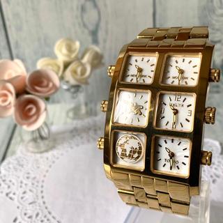 アヴァランチ(AVALANCHE)の【希少】ICE LINK アイスリンク 4タイムゾーン ゴールド 腕時計 シェル(腕時計)