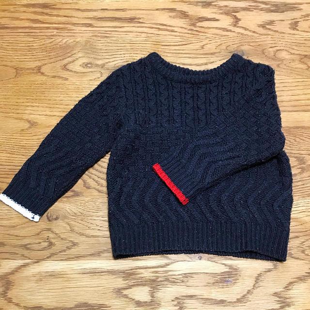 petit main(プティマイン)のプティマイン*セーター  Sサイズ キッズ/ベビー/マタニティのキッズ服男の子用(90cm~)(ニット)の商品写真