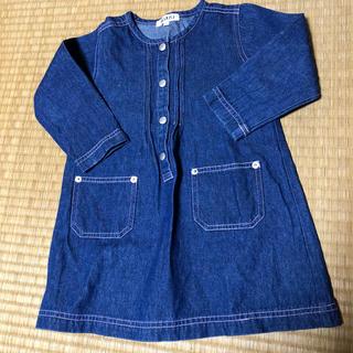 ニッセン(ニッセン)の子供服  デニムワンピース  95cm(ワンピース)