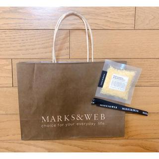 マークスアンドウェブ(MARKS&WEB)のMARKS&WEB  バスソルト ショップ袋 リボン(入浴剤/バスソルト)