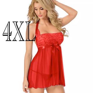 ベビードール 4XL RED(ルームウェア)