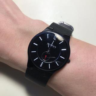 スカーゲン(SKAGEN)のSKAGEN チタニウム 腕時計 ブラック(腕時計(アナログ))