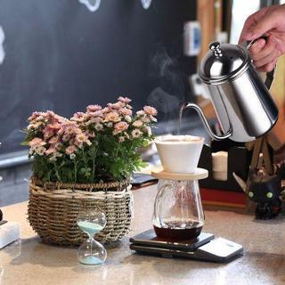 コーヒードリップポット コーヒーポット ドリップケトル 細口ポット ステンレス(グラス/カップ)