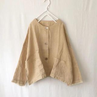 ネストローブ(nest Robe)のnest robe リネンノーカラージャケット(ノーカラージャケット)