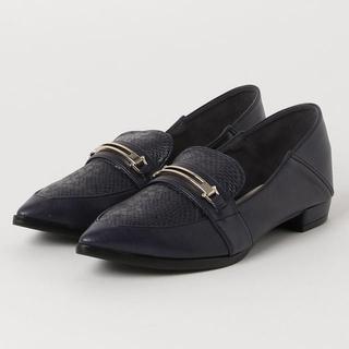ステュディオス(STUDIOUS)の値下げ⭐︎STUDIOUS ビットローファー ネイビー(ローファー/革靴)