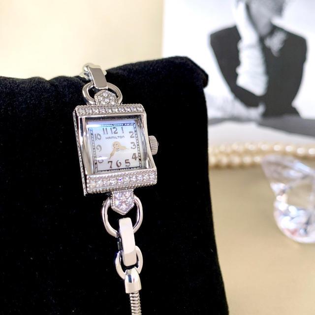ジン コピー 超格安 | Hamilton - 美品✨電池交換クリーニング済み ハミルトン 32Pダイヤ レディース 時計の通販