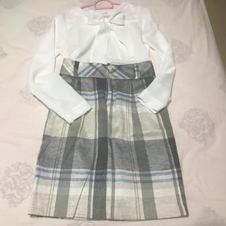 ザラ(ZARA)のザラスカート XS.S (ブラウスは別)(ひざ丈スカート)