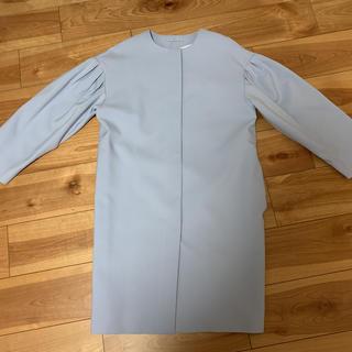GU - GU ボリュームスリーブコート 水色 Mサイズ