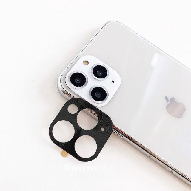 【新品】iPhone 11pro/proMax カメラレンズ カバー ブラックの通販 by TAMILY's shop ラクマ