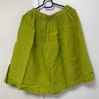 ネストローブ(nest Robe)のYAMMA ヤンマ産業 リネンギャザースカート(ひざ丈スカート)