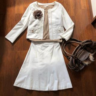エフデ(ef-de)のエフデ★白のセットアップスーツ(スーツ)