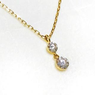 アガット(agete)のagete  アガット ダイヤモンドネックレス 0.15ct K18YG(ネックレス)
