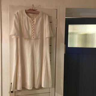 クロエ(Chloe)の最終価格🤎Chloé white silk onepiece.(ひざ丈ワンピース)