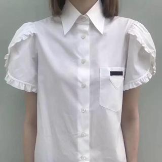プラダ(PRADA)の新品♡お袖フリル  シャツ(シャツ/ブラウス(長袖/七分))
