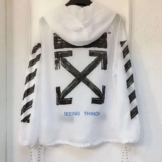 オフホワイト(OFF-WHITE)のOff-White オフホワイト薄いジャケット日焼け防止衣ホワイト男女兼用   (マウンテンパーカー)