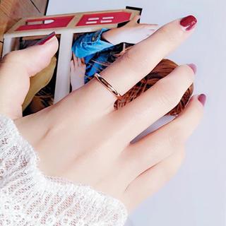 甲丸ステンレスリング 重ね付け シンプル アレルギー対応 指輪 ピンクゴールド (リング(指輪))