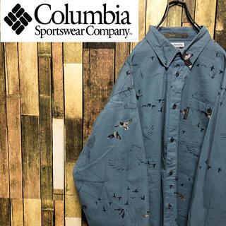 コロンビア(Columbia)の【さるよ来い様専用☆】コロンビア☆アニマル柄ビッグカモ柄ビッグハンティングシャツ(シャツ)